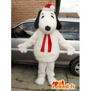 Gevulde hond mascotte Snoopy en Kerstmis accessoires - MASFR00825 - Dog Mascottes