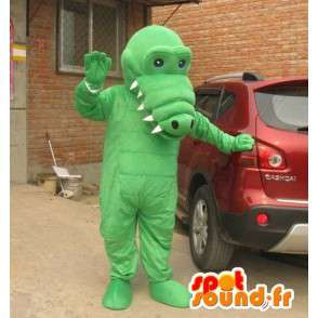 Mascot vaaleanvihreä alligaattori isot hampaat - Costume - MASFR00829 - krokotiili Maskotteja