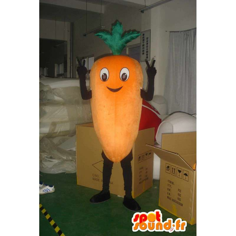 Μασκότ γίγαντας καρότο - ιδανικό κοστούμι για τους κηπουρούς - MASFR00831 - φυτικά μασκότ