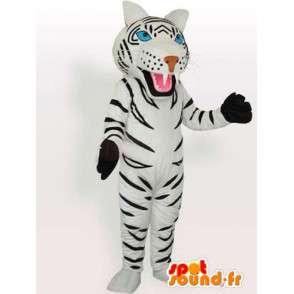 Tiger mascot black and white striped gloves accessories - MASFR00574 - Tiger mascots