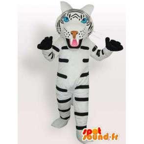Mascota del tigre guantes de rayas en blanco y negro con los accesorios - MASFR00574 - Mascotas de tigre