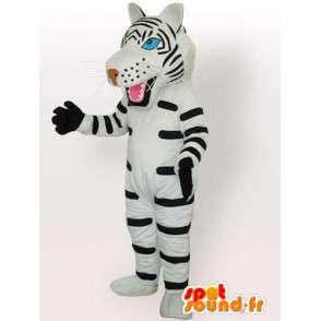 Μασκότ ριγέ τίγρη με λευκά και μαύρα γάντια αξεσουάρ - MASFR00574 - Tiger Μασκότ