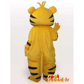 Cat Mascot listrado amarelo e preto - Costume Plush Cat - MASFR00554 - Mascotes gato