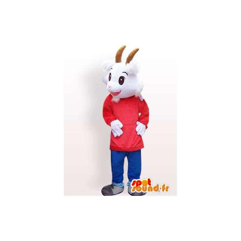 Mascot goat with custom accessories - MASFR00847 - Goats and goat mascots