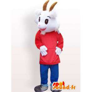 Mascot goat with custom accessories - MASFR00847 - Goats and goat mascots