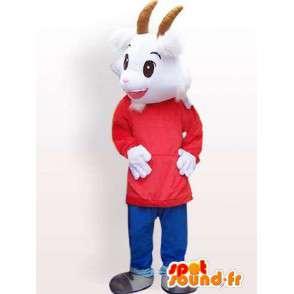 Mascotte de chèvre avec accessoires personnalisables - MASFR00847 - Mascottes Boucs et Chèvres