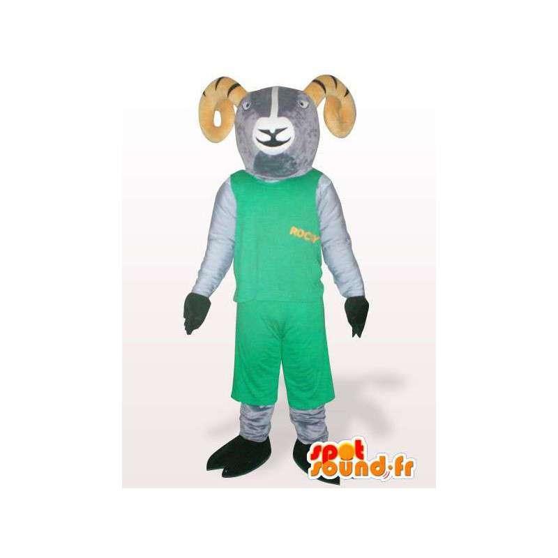 Mascotte de bouc des montagnes rocky vert - Différentes tailles - MASFR00851 - Mascottes Boucs et Chèvres