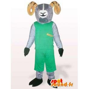 Koza maskot zelené skalnaté hory - Různé velikosti - MASFR00851 - Maskoti a Kozy Kozy