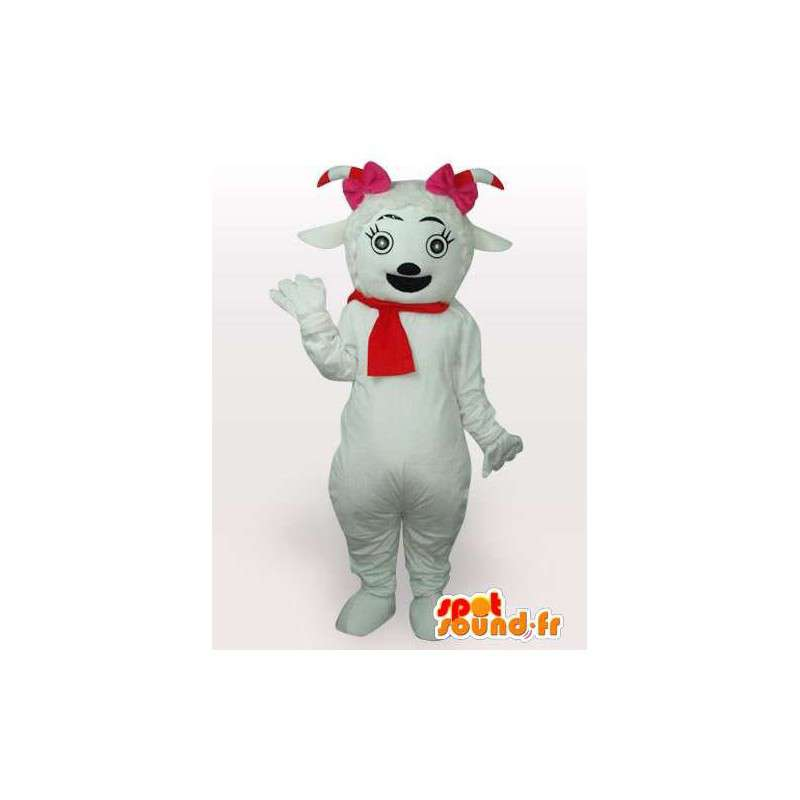 Female mascot goat pastures French red - MASFR00854 - Goats and goat mascots