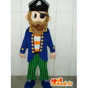 Pirat-maskot - forklædning og kvalitetsdragt - hurtig levering