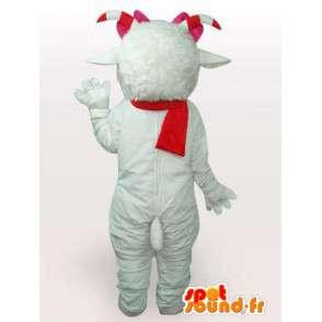 Maskottchen Ziege Weiden Französisch rot - MASFR00854 - Ziegen und Ziege-Maskottchen