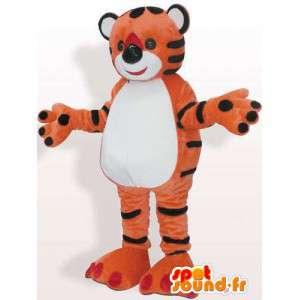 Μασκότ κόκκινο πορτοκαλί γεμιστό τίγρη