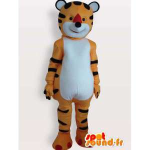 Plush mascot tiger striped orange and black
