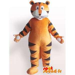 Mascot plysj alle størrelser av oransje tiger stripet stil