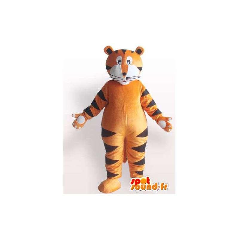Μασκότ βελούδου όλα τα μεγέθη των πορτοκαλί τίγρης ριγέ στυλ - MASFR00858 - Tiger Μασκότ