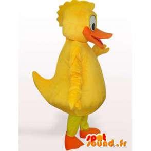 Anatra Giallo Mascot - Costume tutte le dimensioni - Trasporto veloce - MASFR001043 - Mascotte di anatre
