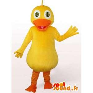 Amarillo de la mascota del pato - accesorio del traje de baño por la noche
