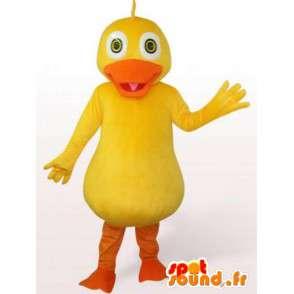 Κίτρινη πάπια μασκότ - βράδυ κοστούμι αξεσουάρ μπάνιου - MASFR00241 - πάπιες μασκότ