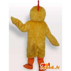 Maskot základní žluté kuřátko červená hřeben - Plyšové kanárka - MASFR00327 - Maskot Slepice - Roosters - Chickens