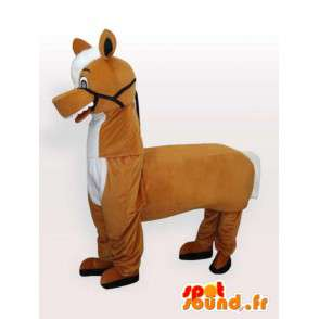 Mascot Hevonen - Eläinten Costume - Ihanteellinen stud - Juhlapäivä - MASFR00272 - hevonen maskotteja