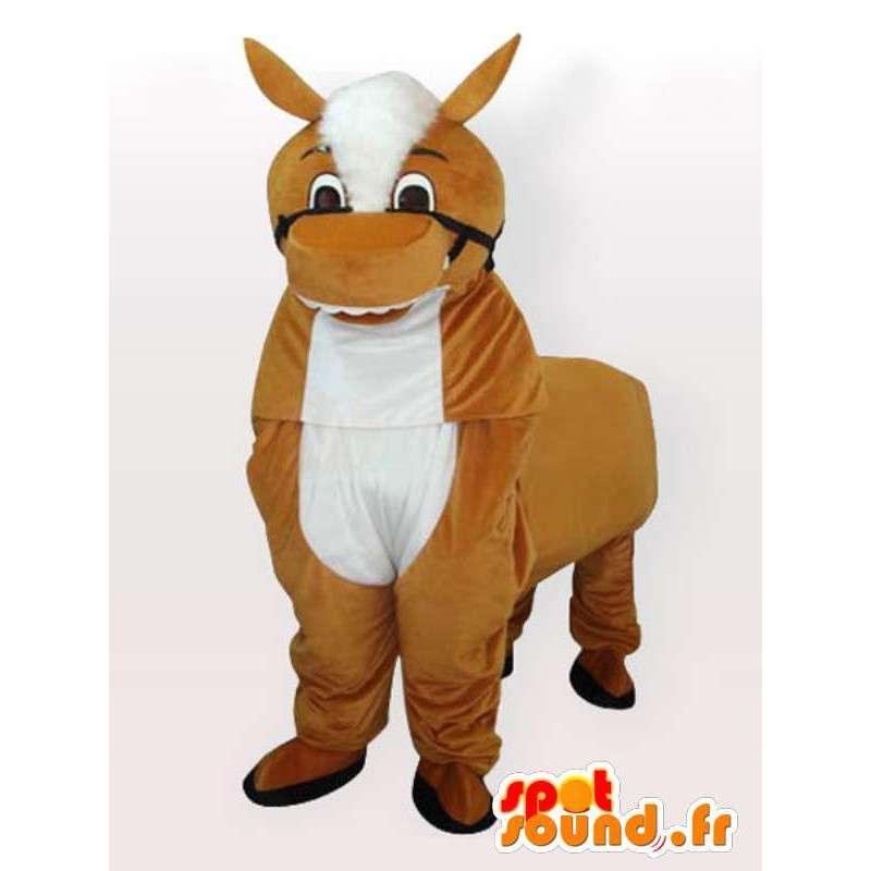 Pferd Maskottchen - Tierkostüm - Ideal für Gestüt - Fest - MASFR00272 - Maskottchen-Pferd