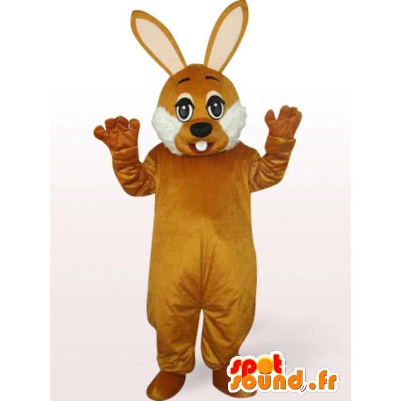 Mascotte coniglio Brown - costume da coniglio per la festa in maschera - MASFR00240 - Mascotte coniglio