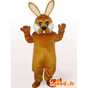 Ruskea kani maskotti - pupu puku naamiaispuku puolue - MASFR00240 - maskotti kanit