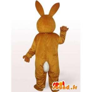 καφέ μασκότ κουνελιών - λαγουδάκι κοστούμι για αποκριάτικο πάρτι - MASFR00240 - μασκότ κουνελιών