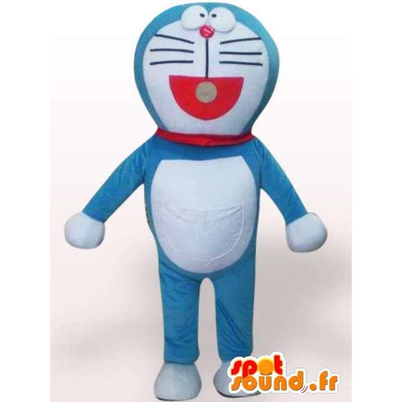 Blue Cat Mascot Doraemon tyyli - hauskaa Costume - MASFR00859 - kissa Maskotteja