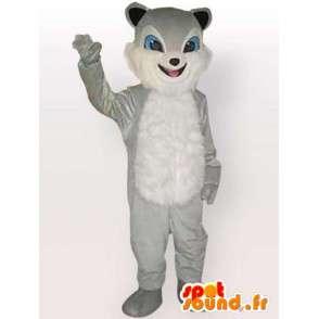 Γάτα μασκότ στιφάδο γκρι - γκρι κοστούμι των ζώων - MASFR00860 - Γάτα Μασκότ