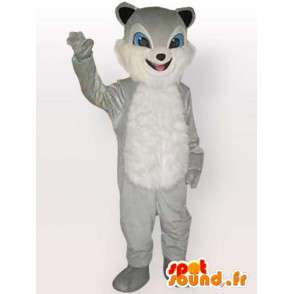 猫マスコットシチューグレー - グレー動物の着ぐるみ - MASFR00860 - 猫マスコット