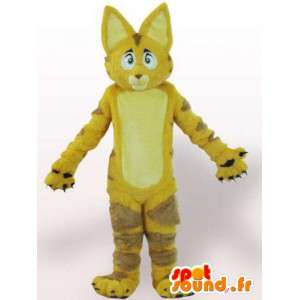 Mascot cat / lion with yellow fur - Disguise