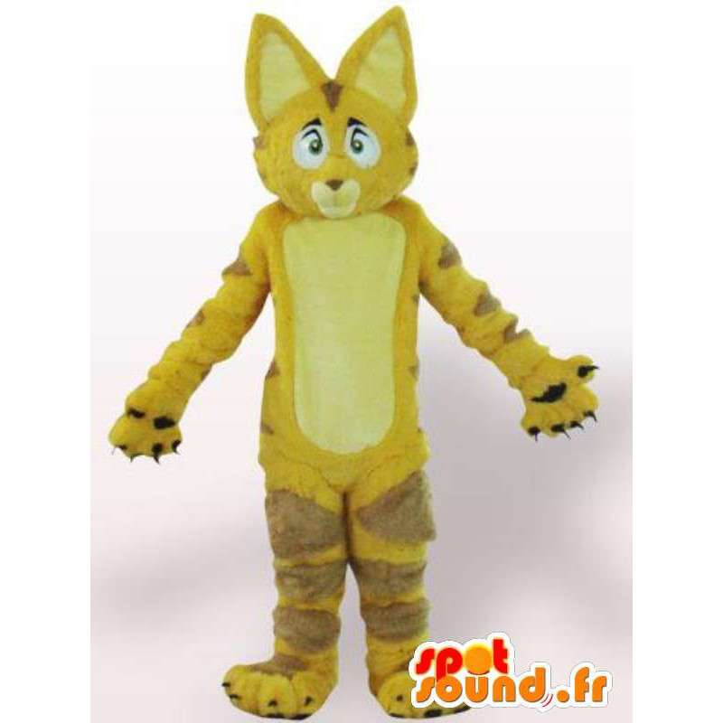Γάτα μασκότ / κίτρινο λιοντάρι με γούνα - μεταμφίεση - MASFR00861 - Γάτα Μασκότ