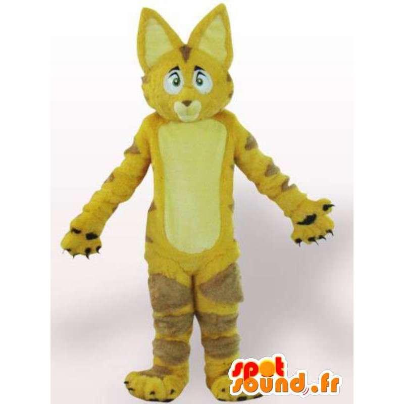 Cat Mascot / gele leeuw met bont - Disguise - MASFR00861 - Cat Mascottes