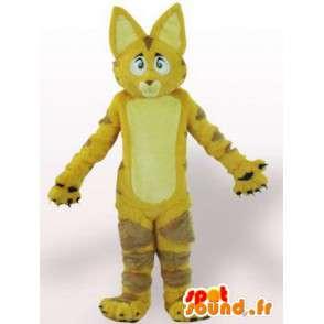 Mascotte de chat / lion jaune avec fourrure - Déguisement - MASFR00861 - Mascottes de chat