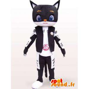Cualquier tamaño de la mascota del estilo del gato robot - Traje japonés