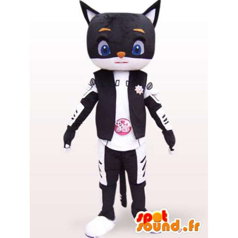Μασκότ κάθε στυλ ρομπότ μεγέθους γάτας - ιαπωνική φορεσιά - MASFR00862 - Γάτα Μασκότ