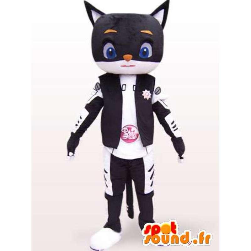 日本のコスチューム - 任意のスタイルサイズのロボット猫マスコット - MASFR00862 - 猫マスコット