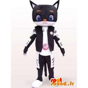 Qualsiasi dimensione mascotte gatto robot stile - Costume giapponese - MASFR00862 - Mascotte gatto