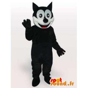 Μασκότ Felix η μαύρη και άσπρη γάτα - Κοστούμια μεγέθη