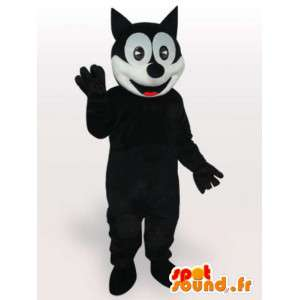 Mascot Felix de zwart-witte kat - Costume maten
