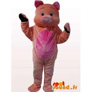 Mascotte de cochon en peluche tous âges - Déguisement rose