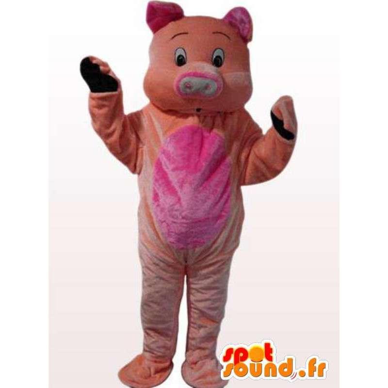 μασκότ χοίρων πλούσσα όλες τις ηλικίες - ροζ κοστούμι - MASFR00866 - Γουρούνι Μασκότ