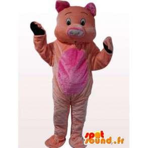 Świnia pluszowa maskotka wszystkich grup wiekowych - różowy kostium - MASFR00866 - Maskotki świnia