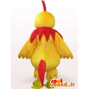 Gallo mascotte gialla e rossa - Ideale per sport di squadra o la sera - MASFR00242 - Mascotte di galline pollo gallo