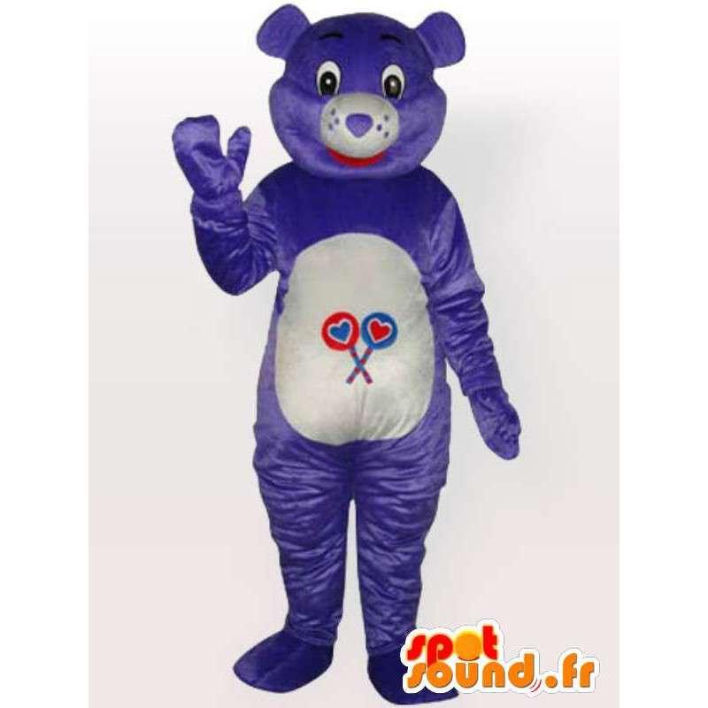 Maskotka jeden fioletowy niedźwiedzia - Konfigurowalny - Adult Costume - MASFR00667 - Maskotka miś