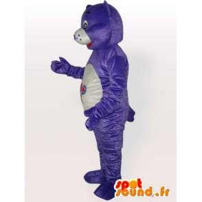 Orso mascotte viola semplice - personalizzabile - Costume adulto - MASFR00667 - Mascotte orso
