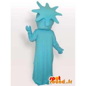 Mascotte statua blu della liberta - Costume festa di New York - MASFR00293 - Mascotte di oggetti