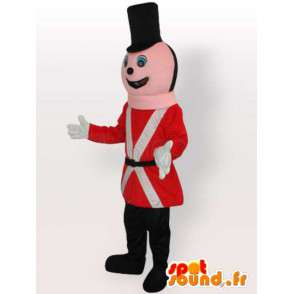Poliziotto mascotte canadese con accessori rossi e neri - MASFR00648 - Umani mascotte