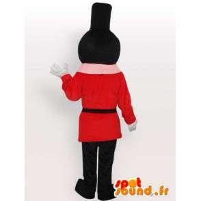 Mascotte de gendarme canadien rouge et noir avec accessoires - MASFR00648 - Mascottes Homme